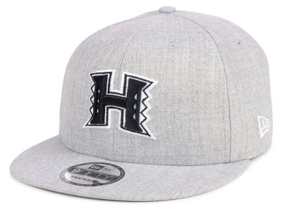 Hawaii Warriors New Era NCAA Heather Gray 9FIFTY Snapback Cap