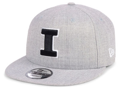 Illinois Fighting Illini New Era NCAA Heather Gray 9FIFTY Snapback Cap