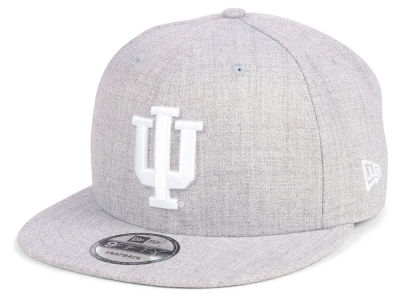 Indiana Hoosiers New Era NCAA Heather Gray 9FIFTY Snapback Cap