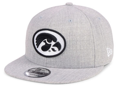 Iowa Hawkeyes New Era NCAA Heather Gray 9FIFTY Snapback Cap