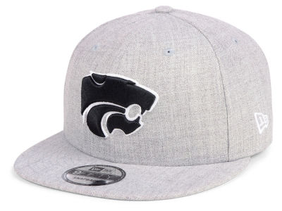Kansas State Wildcats New Era NCAA Heather Gray 9FIFTY Snapback Cap