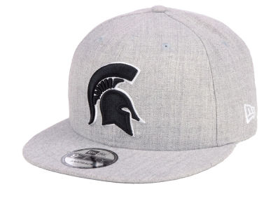Michigan State Spartans New Era NCAA Heather Gray 9FIFTY Snapback Cap