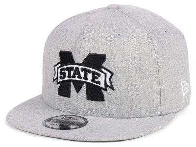 Mississippi State Bulldogs New Era NCAA Heather Gray 9FIFTY Snapback Cap