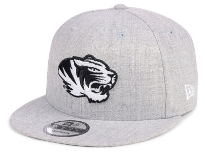 Missouri Tigers New Era NCAA Heather Gray 9FIFTY Snapback Cap