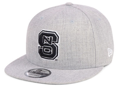 North Carolina State Wolfpack New Era NCAA Heather Gray 9FIFTY Snapback Cap