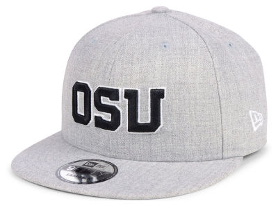 Oregon State Beavers New Era NCAA Heather Gray 9FIFTY Snapback Cap