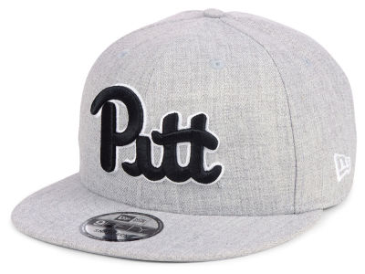Pittsburgh Panthers New Era NCAA Heather Gray 9FIFTY Snapback Cap
