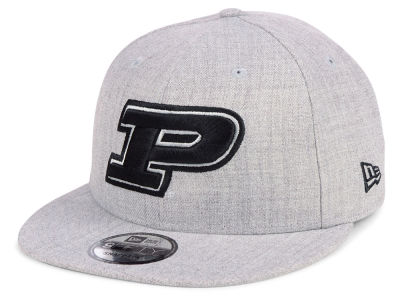 Purdue Boilermakers New Era NCAA Heather Gray 9FIFTY Snapback Cap