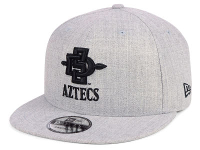 San Diego State Aztecs New Era NCAA Heather Gray 9FIFTY Snapback Cap