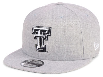 Texas Tech Red Raiders New Era NCAA Heather Gray 9FIFTY Snapback Cap