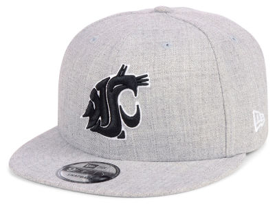 Washington State Cougars New Era NCAA Heather Gray 9FIFTY Snapback Cap