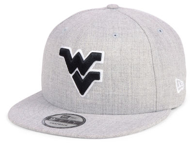 West Virginia Mountaineers New Era NCAA Heather Gray 9FIFTY Snapback Cap