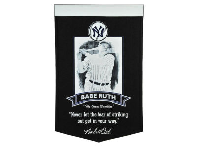 New York Yankees Babe Ruth Winning Streak MLB Icon Banner