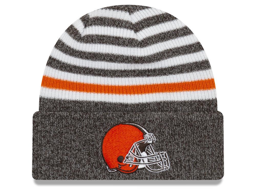 61e7be2a94f4e ... cheapest cleveland browns new era nfl striped cuff mb knit 911fe 90923