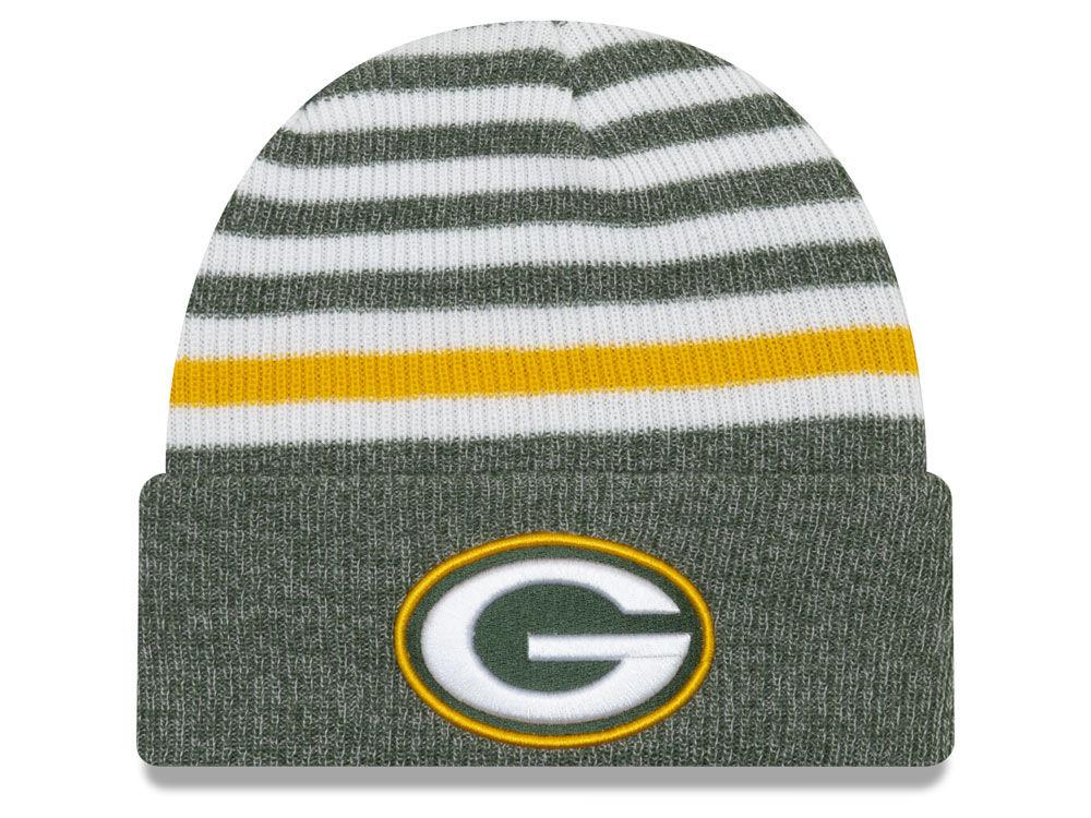 Green Bay Packers New Era NFL Striped Cuff MB Knit