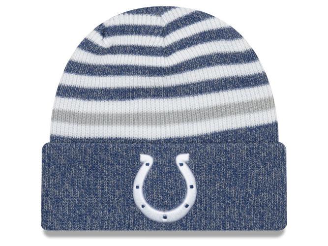 Indianapolis Colts New Era Nfl Striped Cuff Mb Knit Colts Pro Shop