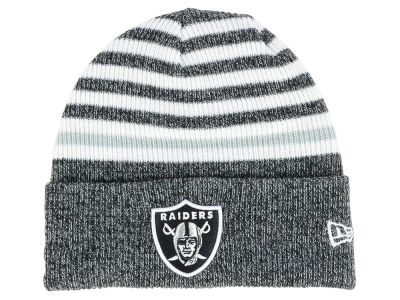 Oakland Raiders New Era NFL Striped Cuff MB Knit 8176c564649