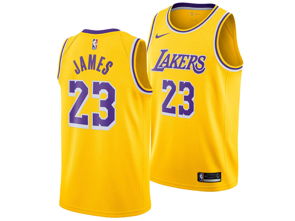 Los Angeles Lakers LeBron James Nike NBA Kids Icon Replica Jersey ... 03d1d320c