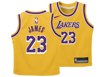 Los Angeles Lakers LeBron James Nike NBA Toddler Icon Replica Jersey
