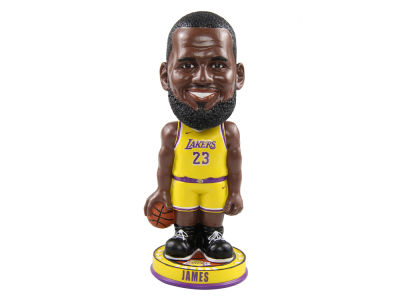 Los Angeles Lakers LeBron James Forever Collectibles Knucklehead Bobblehead