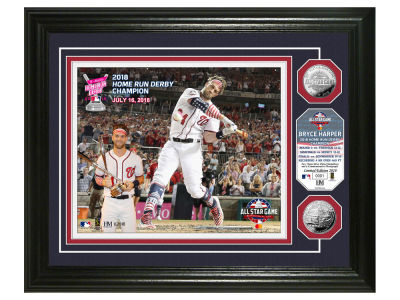 Bryce Harper Highland Mint 2018 Home Run Derby Champ Silver Coin Photo Mint