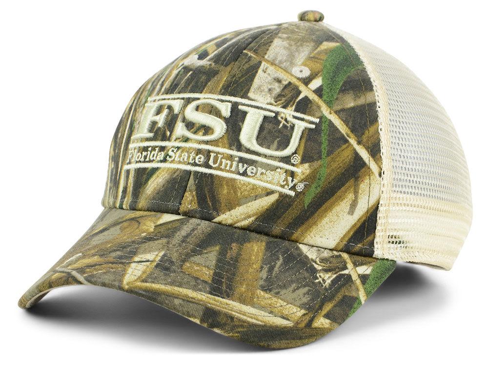 178904494e9b3 Florida State Seminoles The Game NCAA Camo Mesh Bar Snapback Cap ...