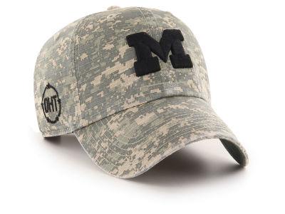 designer fashion 477eb 39c4a Michigan Wolverines  47 NCAA Operation Hat Trick Camo Nilan  47 CLEAN UP Cap