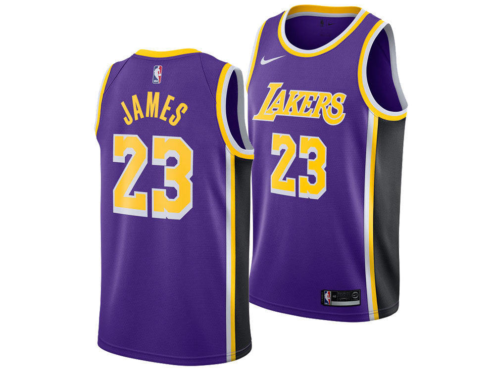 7c90b808c Los Angeles Lakers LeBron James Nike NBA Men s Statement Swingman Jersey