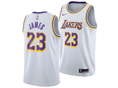Los Angeles Lakers LeBron James Nike NBA Men's Association Swingman Jersey