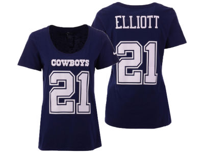 Dallas Cowboys Ezekiel Elliott Nike NFL Women's Dri-Cotton T-shirt
