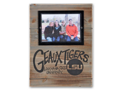 LSU Tigers Magnolia Lane NCAA Wood Plank Frame