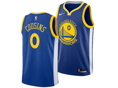 Golden State Warriors DeMarcus Cousins Nike NBA Men's Icon Swingman Jersey
