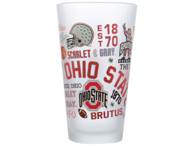 NCAA Frosted Campus Wrap Pint Glass
