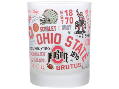 NCAA Frosted Campus Wrap Rocks Glass