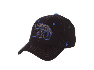 Brigham Young Cougars Zephyr NCAA Black Element Stretch Cap