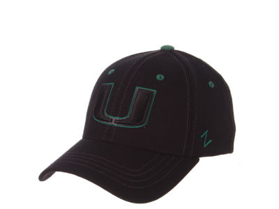 Miami Hurricanes Zephyr NCAA Black Element Stretch Cap 96c0f7123394