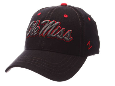 Ole Miss Rebels Zephyr NCAA Black Element Stretch Cap