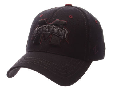 Mississippi State Bulldogs Zephyr NCAA Black Element Stretch Cap