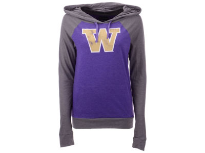 Washington Huskies 5th & Ocean NCAA Women's Big Logo Raglan Hooded Sweatshirt