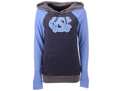 North Carolina Tar Heels 5th & Ocean NCAA Women's Big Logo Raglan Hooded Sweatshirt