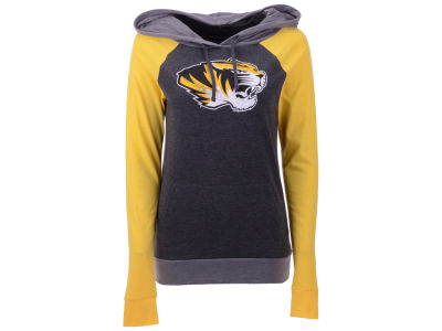 Missouri Tigers 5th & Ocean NCAA Women's Big Logo Raglan Hooded Sweatshirt