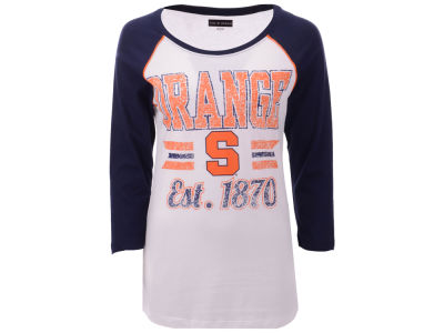 Syracuse Orange 5th & Ocean NCAA Women's Team Stripe Raglan T-Shirt