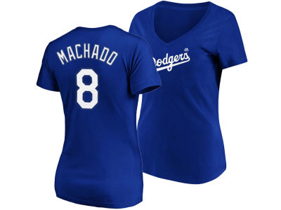 Los Angeles Dodgers Manny Machado Majestic MLB Women's Crew Player T-Shirt