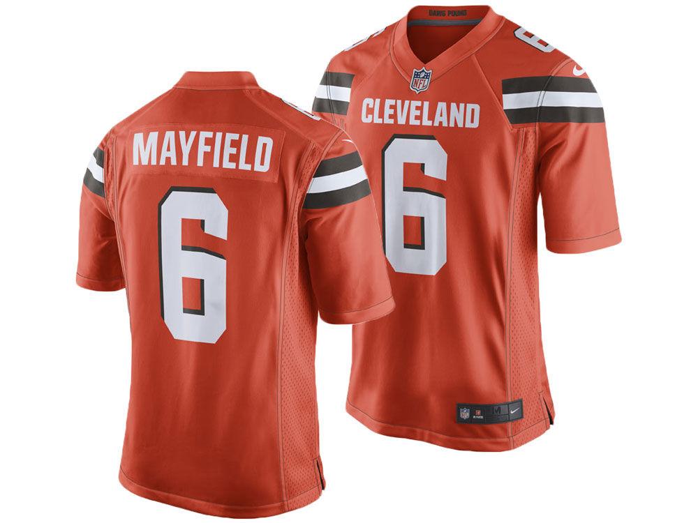 Cleveland Browns Baker Mayfield Nike NFL Men s Game Jersey  b67199b60