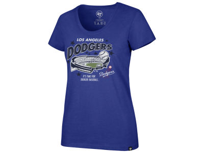 Los Angeles Dodgers '47 MLB Women's Club Scoop Logo T-Shirt