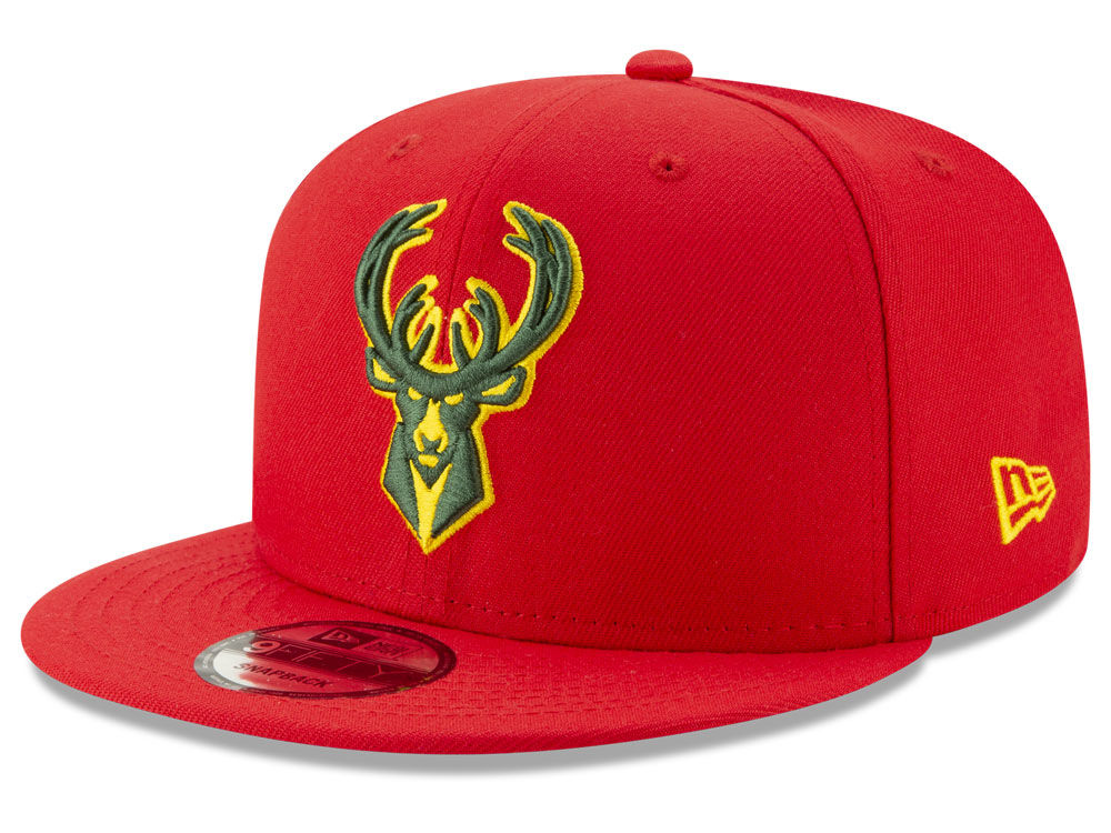 3107262a61d Milwaukee Bucks New Era NBA City Pop Series 9FIFTY Snapback Cap ...