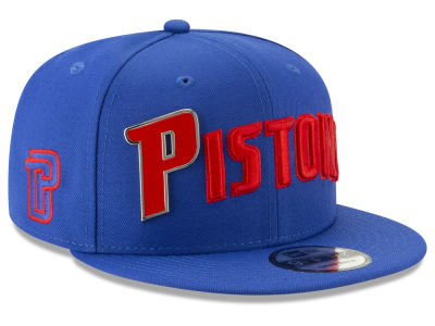 Detroit Pistons New Era NBA Enamel Script 9FIFTY Snapback Cap