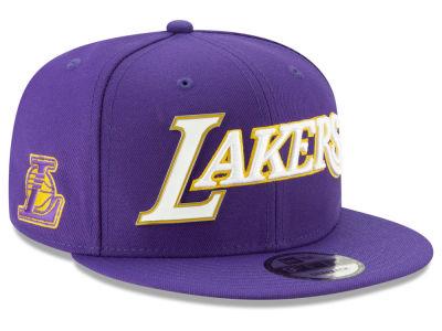 promo code 0d695 d06bd Los Angeles Lakers New Era NBA Enamel Script 9FIFTY Snapback Cap