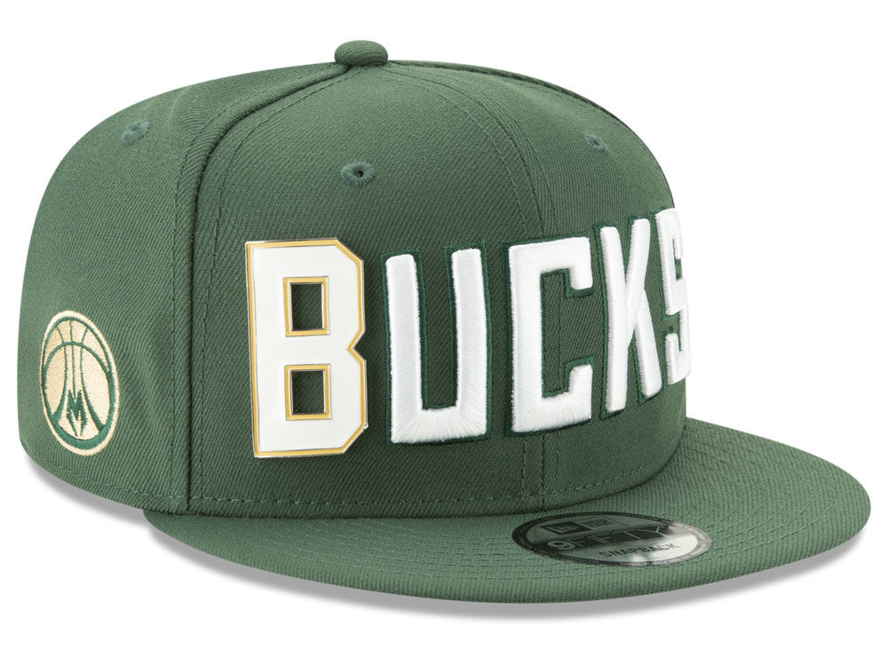 528feb0147b Milwaukee Bucks New Era NBA Enamel Script 9FIFTY Snapback Cap
