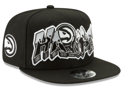 Atlanta Hawks New Era NBA Retroword Black White 9FIFTY Snapback Cap